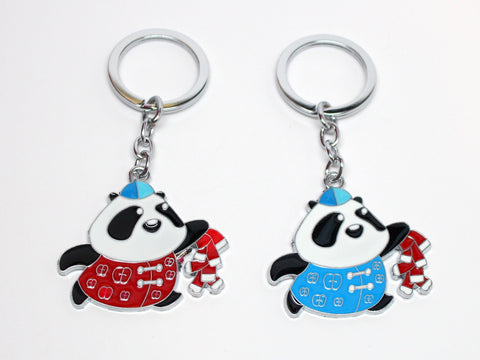 Panda in Traditional Outfit Keychain