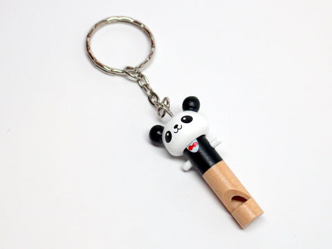 Wood Panda Whistle Keychain