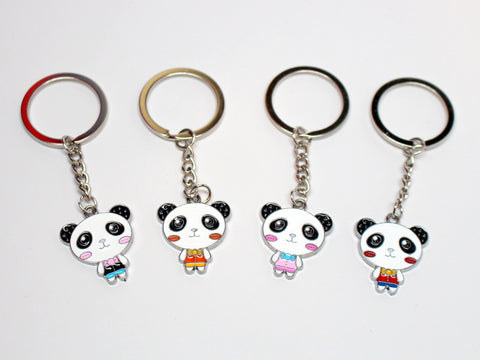 Cartoon Panda Solo Keychain