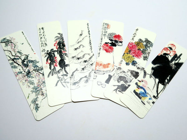 Classic Chinese Flower and Animal Painting Bookmark Set