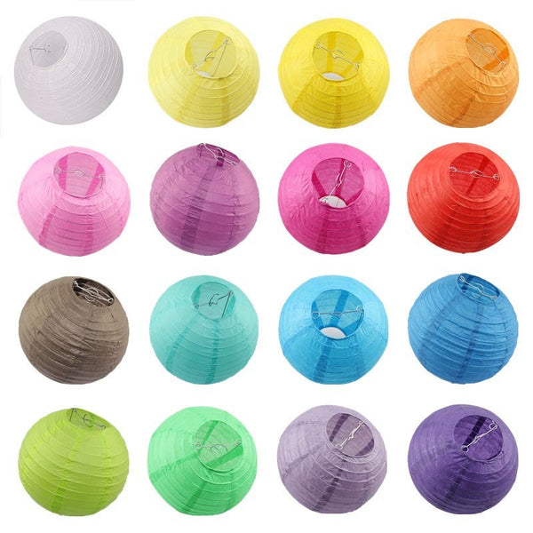 Colorful Paper Lanterns 8 Inches