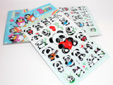 Puffy Panda Sticker Sheet