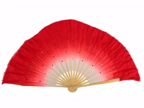 Beautiful Silk Dance Fan (Multiple Colors)