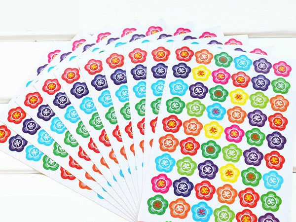 10 Big Flower & Reward Sticker (One Set)