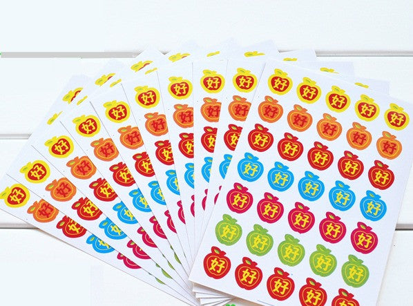 10 Big Apple & Good Sticker (One Set)
