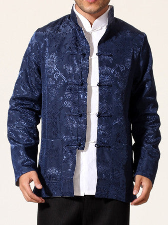 Chinese Silk Long Sleeve Jacket for Men