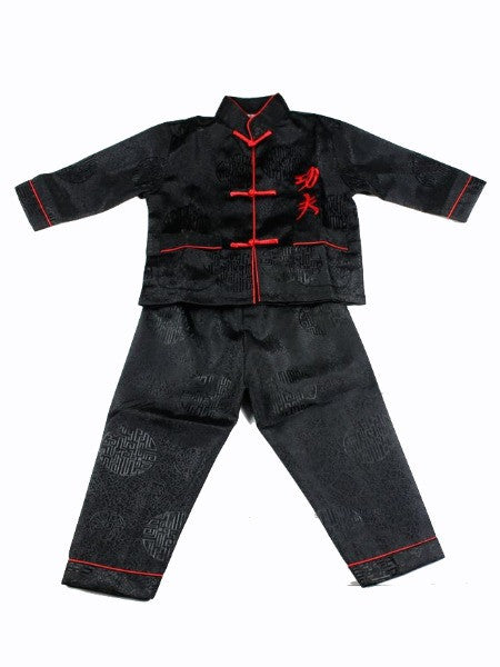 Boys Two-Piece Black Stain Outfit (Black)
