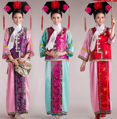 Traditional Chinese Qing Dynasty Dress for Women
