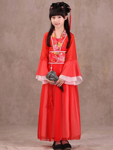 Traditional Chinese Han Dress for Girls