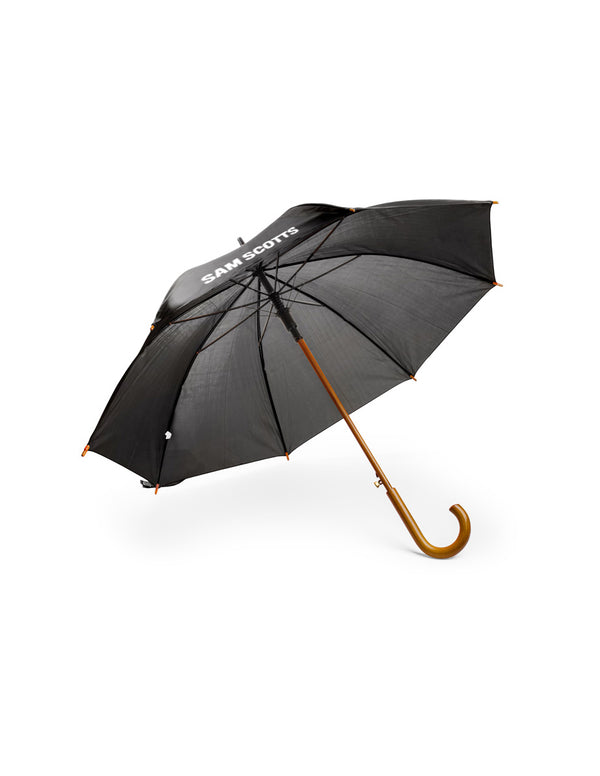 Promotional Umbrella with Curved Wooden Handle