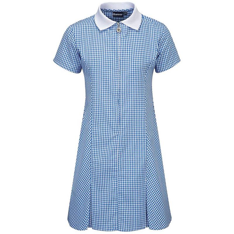 Avon Zip-Fronted Corded Gingham Dress