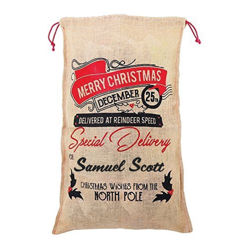 Personalised Large Christmas Santa Sack