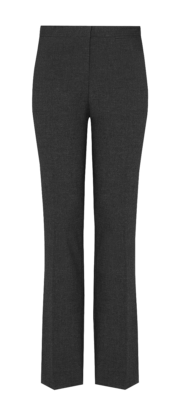 Girls' Senior Slim Leg Trousers - Black