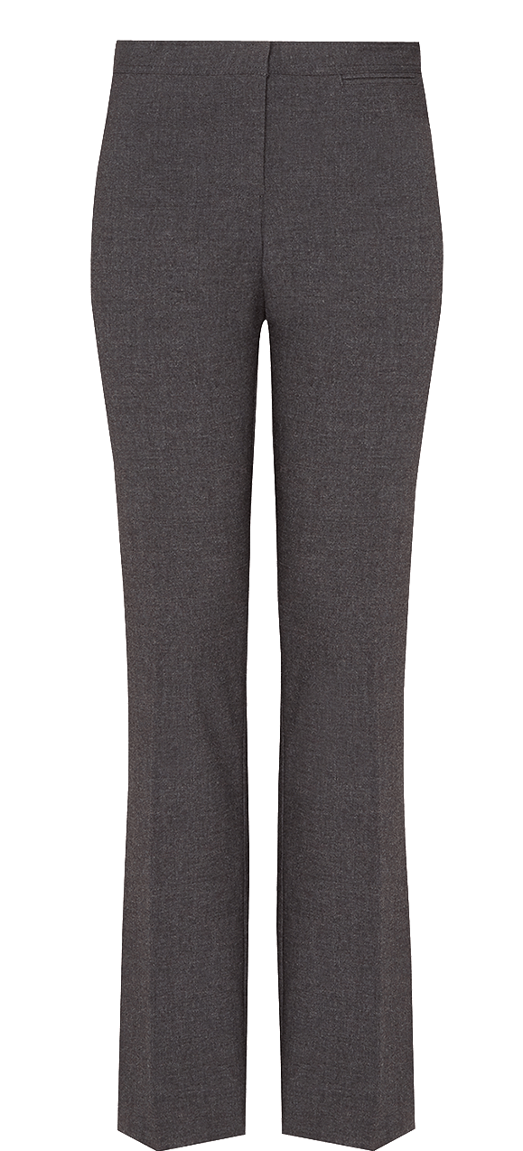 Girls' Senior Slim Leg Trousers - Grey