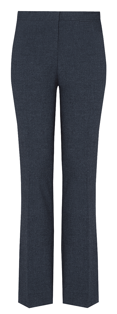 Girls' Senior Slim Leg Trousers - Navy