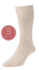 Executive Wool Socks Twin Pack
