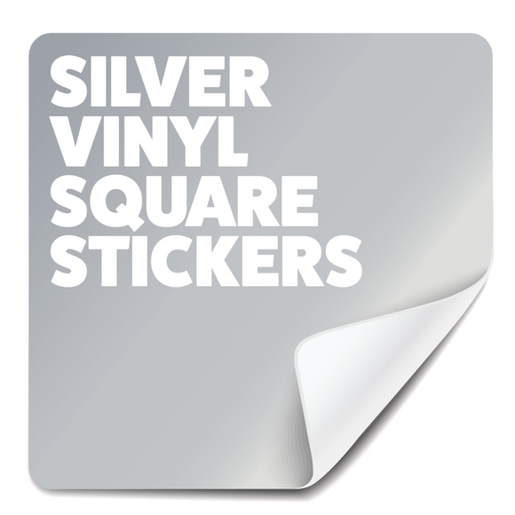 Square All Weather Stickers - Silver (60g/m²)