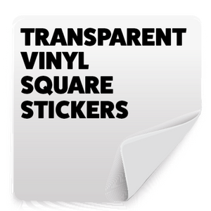 Square All Weather Stickers - Transparent (90g/m²)