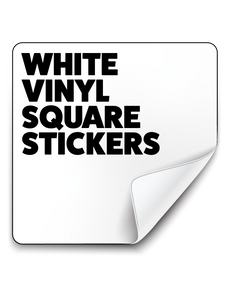 Square All Weather Stickers - White (90g/m²)
