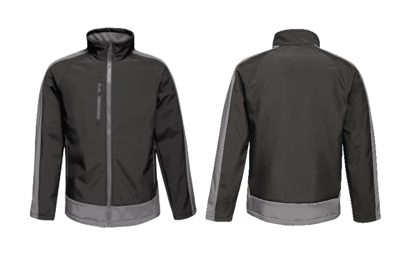 Contrast 3 Layer Printable Softshell Jacket