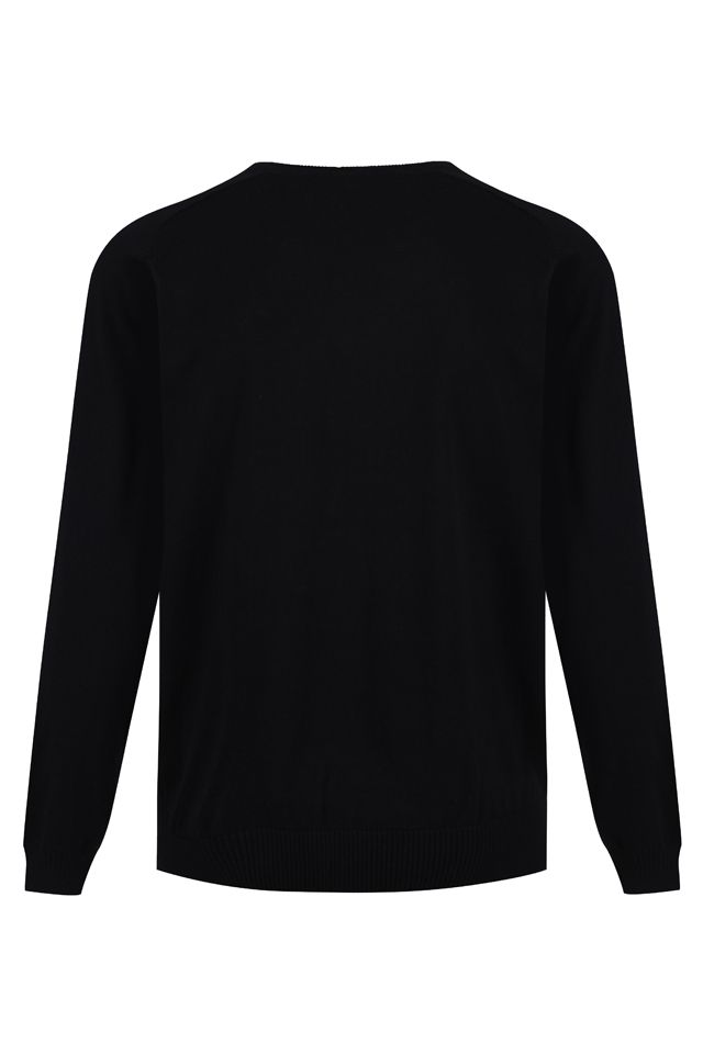 Standard Fit Cotton V-Neck Jumper