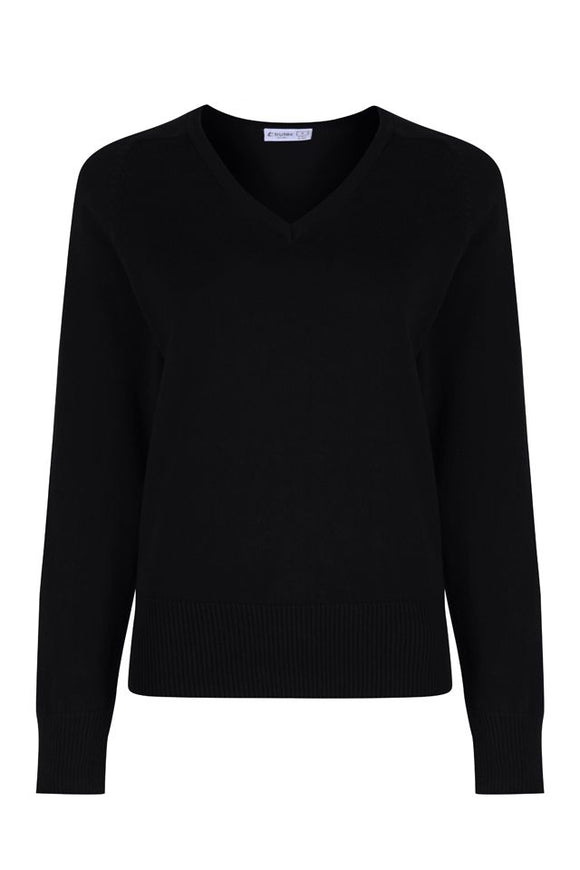 Girl's Fit Cotton V-Neck Jumper