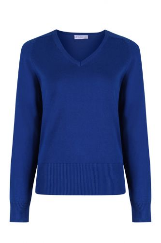 Girls Fit Cotton V-Neck Jumper