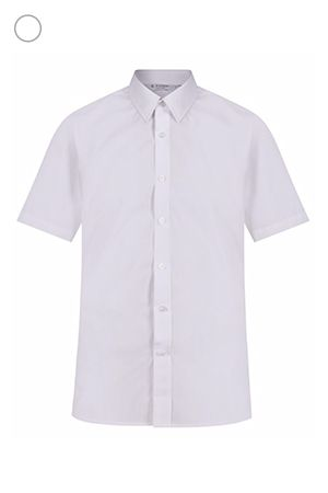 Short Sleeve, Slim Fit Non-Iron Shirts - Twin Pack