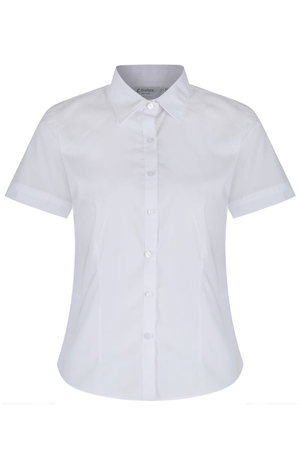Short Sleeve, Slim Fit Non Iron Blouses - Twin pack