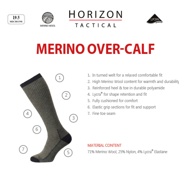 Tactical Merino Over-Calf Socks