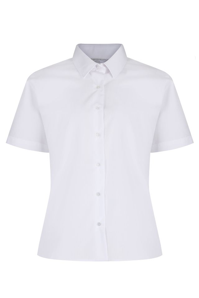 Short Sleeve Non Iron Blouses - Twin pack