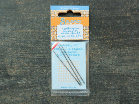 Long Darning Needles Size 2/0