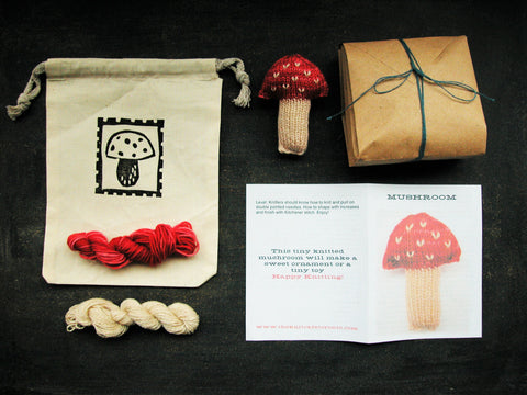 Mushroom Ornament Knit Kit