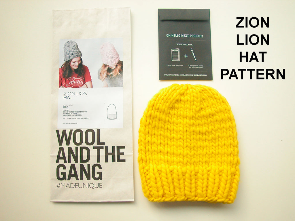 Wool and the Gang Zion Lion Hat Pattern
