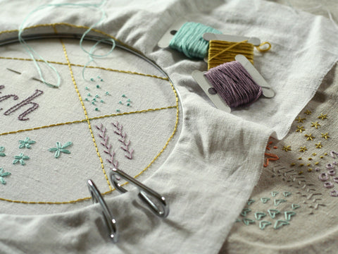 Six Starter Stitches - An Introduction to Embroidery with Sam Lamb