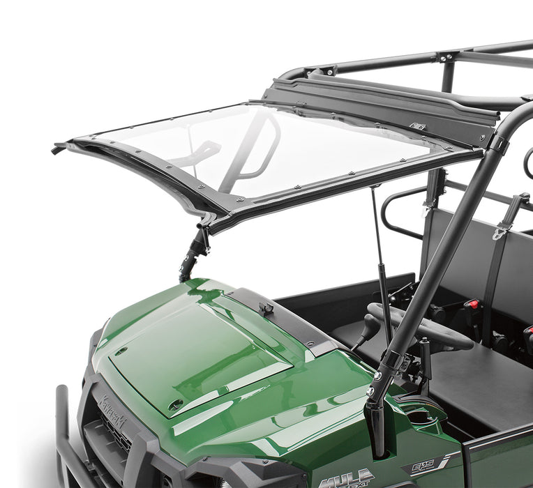 Kawasaki Mule Pro Polycarbonate Flip-up Windshield