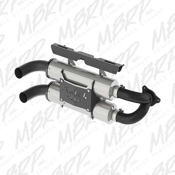 MBRP Slip-on system Dual Stack Performance Muffler for Polaris RZR XP Turbo