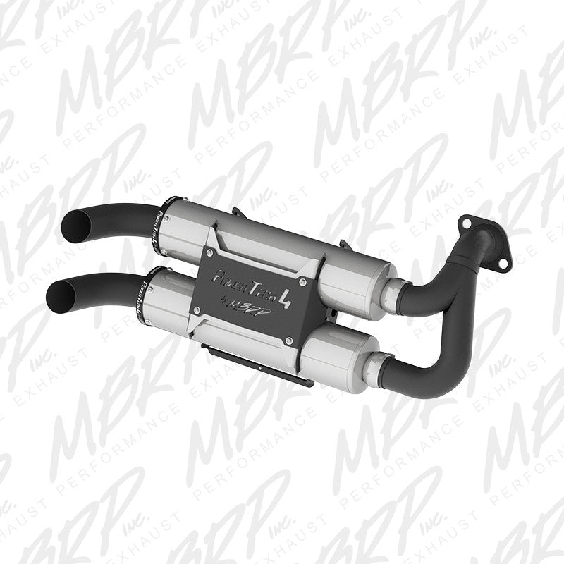 MBRP Slip-on system Dual Stack Performance Muffler for Polaris RZR S 1000 & General 1000