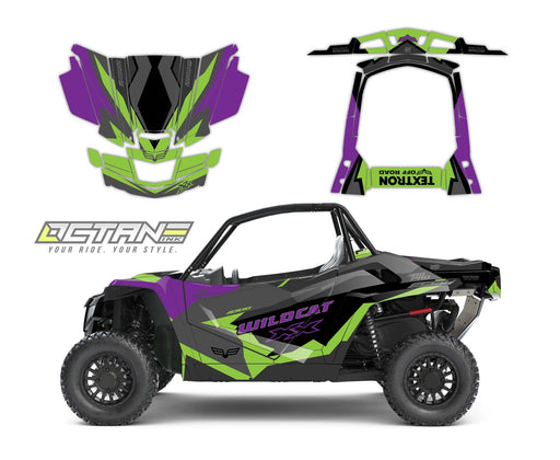 Octane Ink Wrap for Wildcat XX - 6-CRYPTIC- GREEN-PURPLE