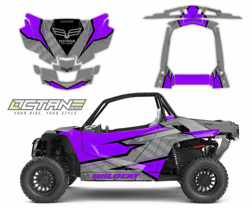 Octane Ink Wrap for Wildcat XX - 6-HOSTILE - PURPLE-GRAY