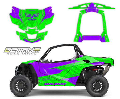 Octane Ink Wrap for Wildcat XX - 6-HOSTILE - PURPLE-GREEN