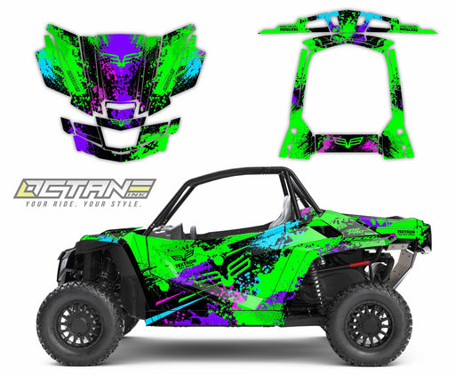 Octane Ink Wrap for Wildcat XX - 6-SPLATTER - GREEN-BLUE-PURPLE