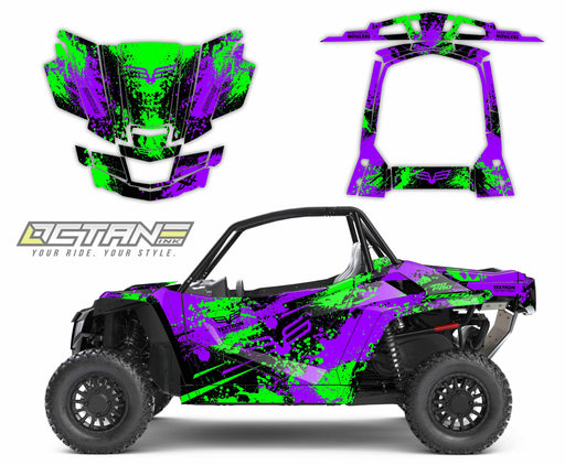 Octane Ink Wrap for Wildcat XX - 6-SPLATTER - GREEN-PURPLE