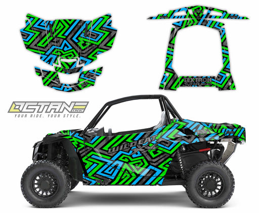 Octane Ink Wrap for Wildcat XX - 6-SWIRL - BLUE-GREEN
