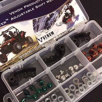 ROOSTER™ ADJUSTABLE SHIFT WEIGHT KIT, POLARIS RZR 900 & 1000, 52-70 GRAM