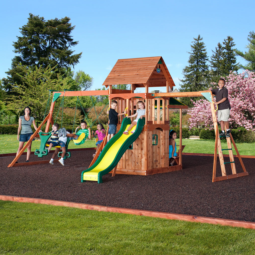 join your kids in their wooden playground
