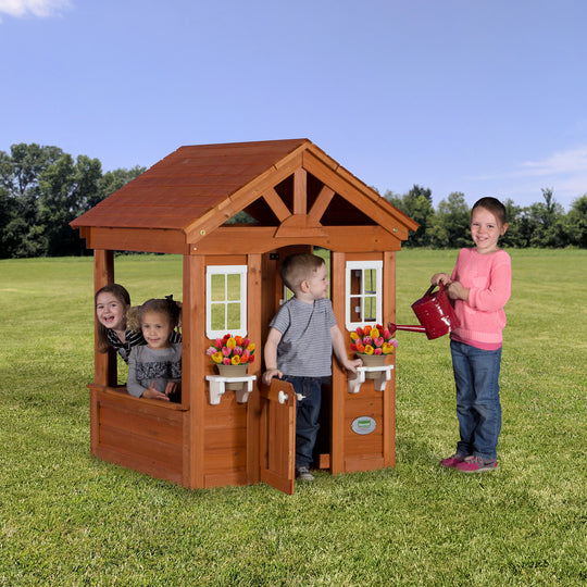 Wooden Playhouses - Columbus Playhouse #main