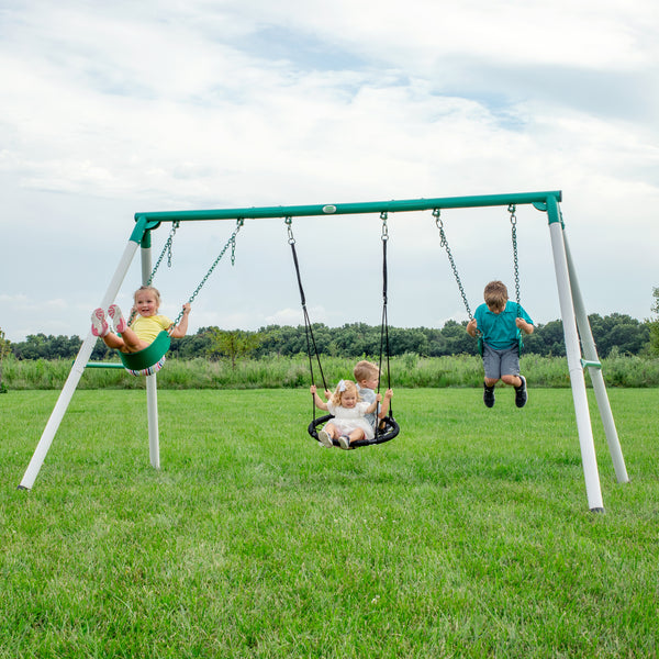 Little Brutus Metal Swing Set
