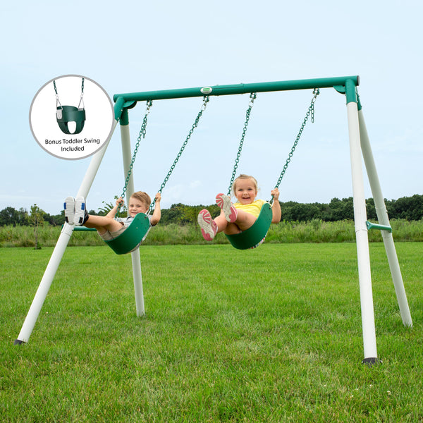 Mini Brutus Metal Swing Set