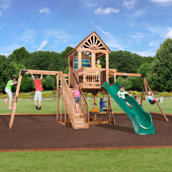 Oceanview Wooden Swing Set